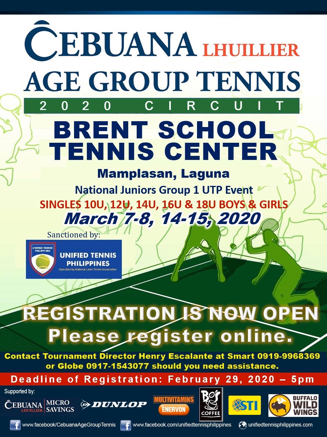 Cebuana Lhuillier Age Group Tennis 2020 Circuit