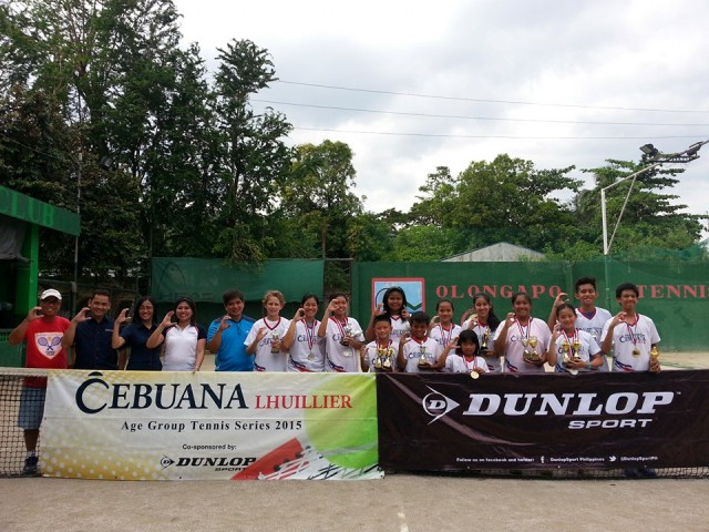Cebuana Lhuillier Age Group Tennis co-sponsored by Dunlop 2015 -Olongapo Leg