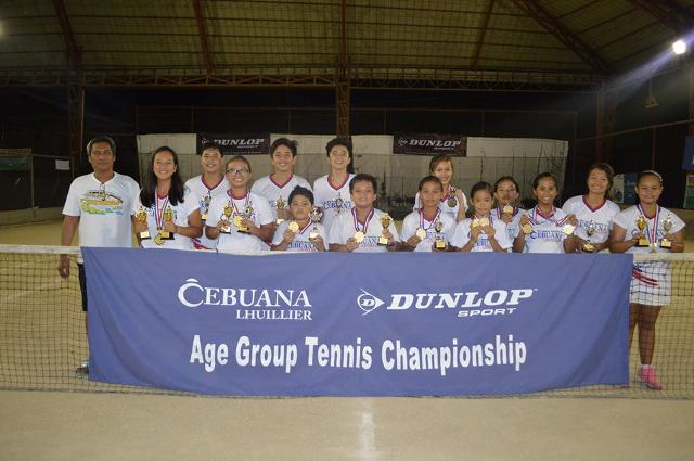 Cebuana Lhuillier Age Group Tennis co-sponsored by Dunlop 2015 -Cabadbaran Leg