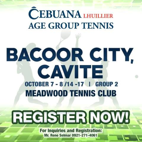 Cebuana Lhuillier Age Group Tennis - Bacoor Cavite